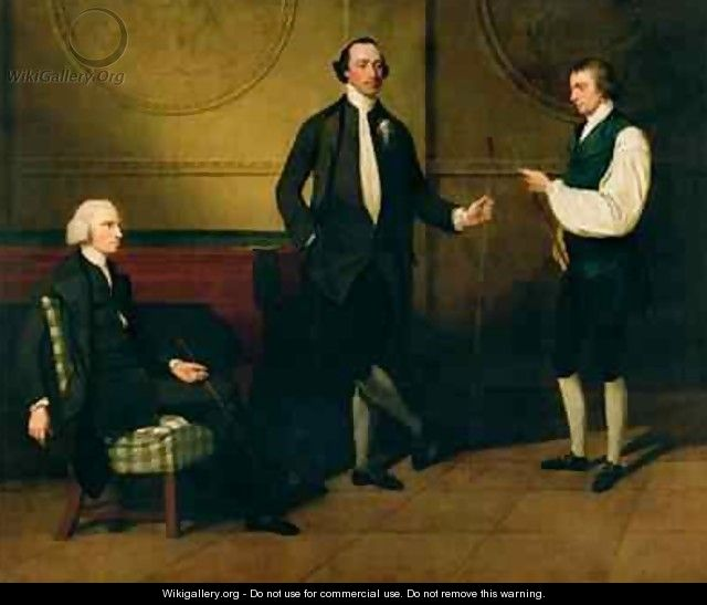 The Reverend Charles Everard and Two Others Playing Billiards - John Hamilton Mortimer