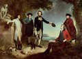 Captain James Cook 1728-79 Sir Joseph Banks 1743-1820 Lord Sandwich with Dr Daniel Solander 1733-82 and Dr John Hawkesworth 1715-73 1771 - John Hamilton Mortimer