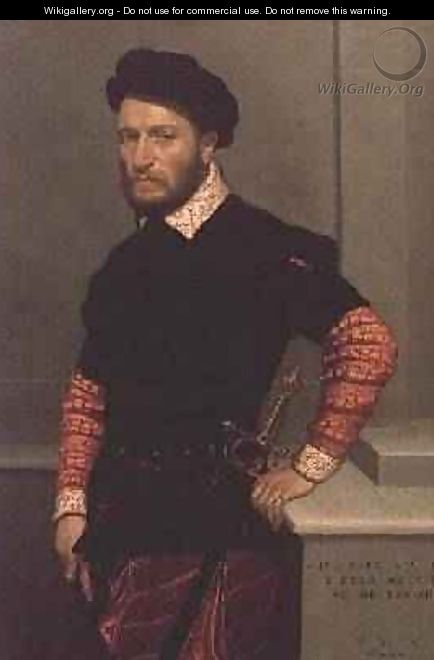 Portrait of Don Gabriel de la Cueva The Duke of Albuquerque - Giovanni Battista Moroni