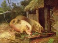Pigs at a Trough - George Morland