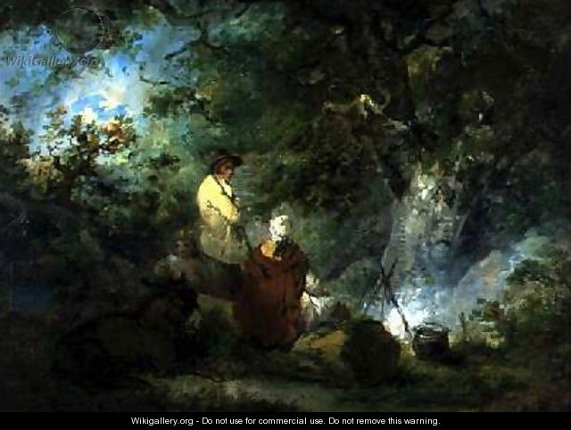 Gypsies by a Campfire 1792 - George Morland