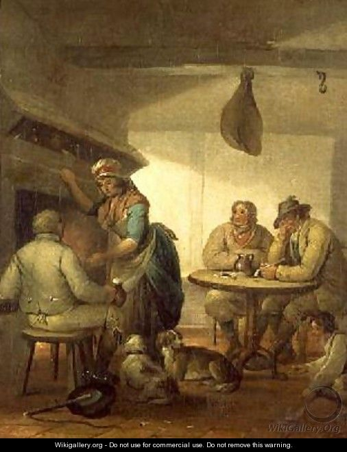 Country Folk By An Inn Fire 1796 - George Morland