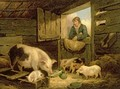 A Boy Looking into a Pig Sty 1794 - George Morland