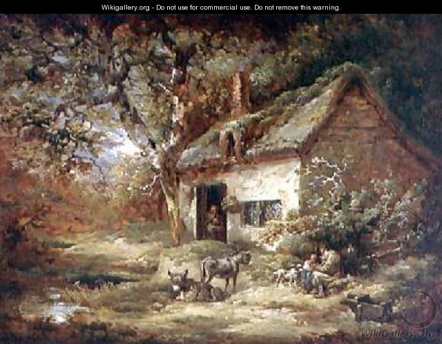 Cottage Door with a Donkey - George Morland