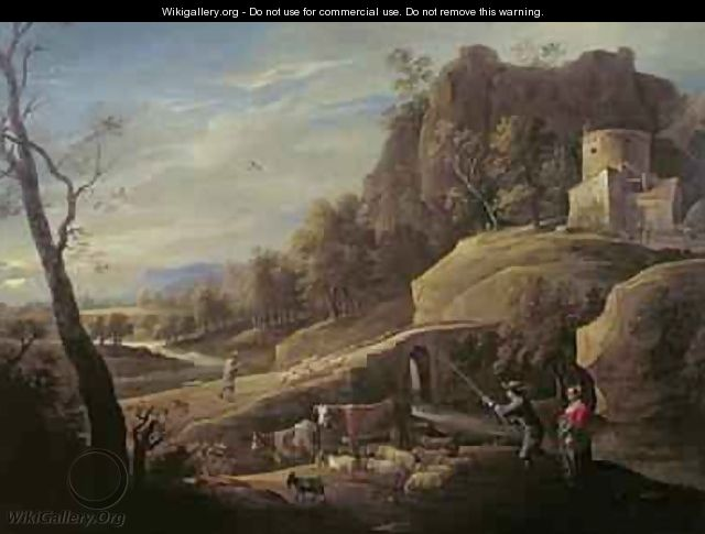 Landscape with Farmers tending their Animals - Pieter the Younger Mulier (Tampesta, Pietro)