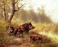 Wild Boar in the Black Forest 1880 - Moritz Muller