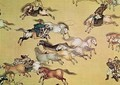 Voyage of Emperor Qianlong 1736-96 detail from a scroll Qing Dynasty - Mou-Lan