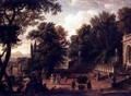The Gardens at the Villa dEste Tivoli 1731 - Isaac de Moucheron