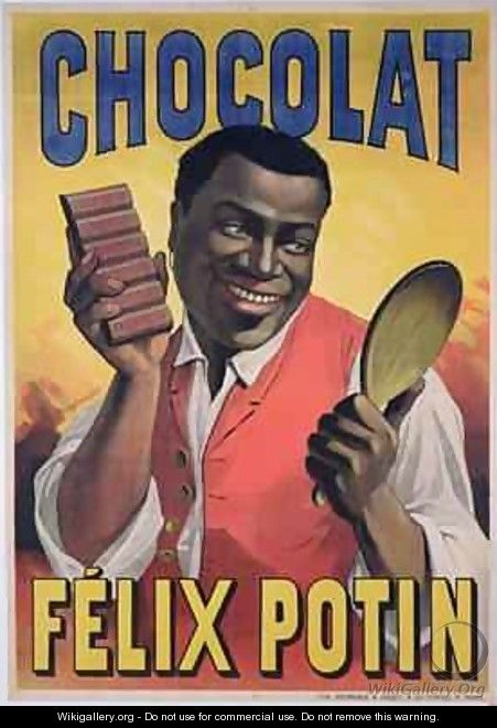 Poster advertising chocolate made by Felix Potin 1900 - Pierre Mourgue