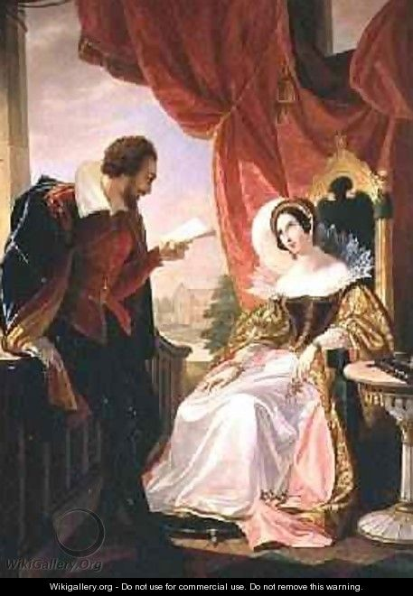 Torquato Tasso reading a poem to Leonora dEste - Luigi Mussini