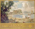 Conway Castle poster advertising the London Midland and Scottish Railway 1930 - David Murray