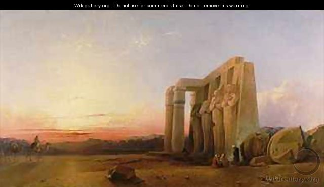 The Ramesseum at Thebes Sunset 1840 - William James Muller