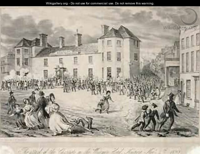 Chartists Attack on the Westgate Hotel Newport November 4th 1840 1893 - James Flewitt Mullock