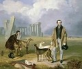 Charles Randell with Greyhounds 1849 - James Flewitt Mullock