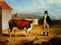 Mr James Hodges and his Two Year-Old Hereford Heifer 1843 - James Flewitt Mullock