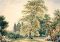 New College Gardens at Oxford 1831 - Frederick Nash