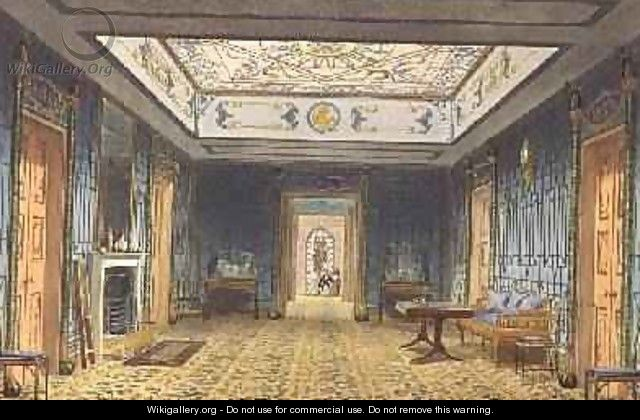 The Double Lobby or Gallery South above the Corridor from Views of the Royal Pavilion - John Nash