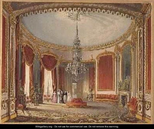 The Saloon in its final phase from Views of the Royal Pavilion - John Nash