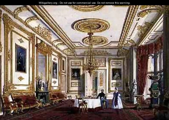 The White Drawing Room at Windsor Castle - Joseph Nash
