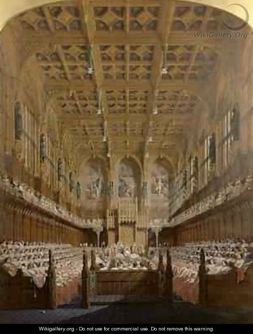 Queen Victoria in the House of Lords - Joseph Nash