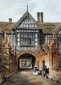 View of the North Entrance of Speke Hall - Joseph Nash