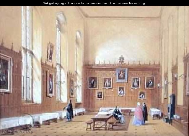 New College Hall 1858 - Joseph Nash