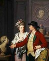 Samuel Nahl Shows his Bride a Bust of his Brother 1782 - Johann August the Younger Nahl
