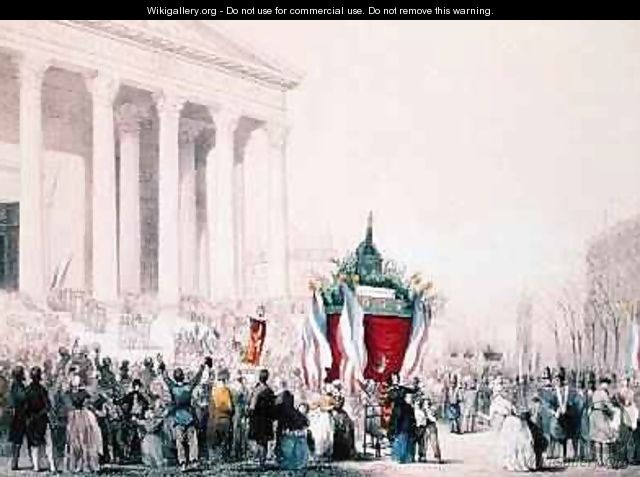 Funeral of the victims of the riots of February 1848 at the Church of La Madeleine 4th March 1848 - Hermann Raunheim and Jean Naissant