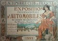 Poster advertising the Exposition Internationale dAutomobiles at the Tuileries Gardens 1898 - A. Nardac