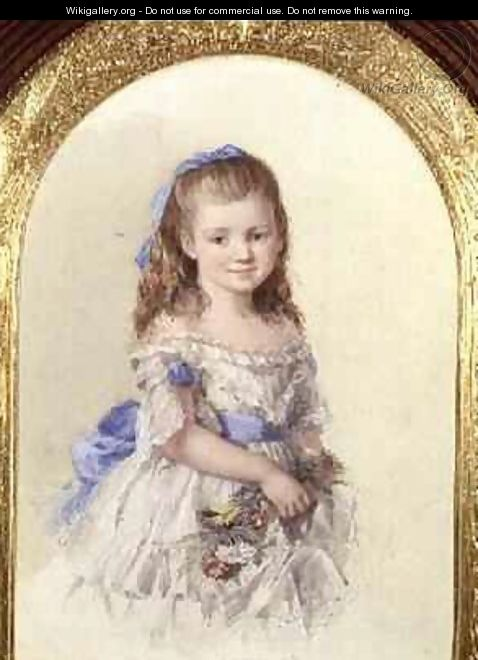 Portrait of Winifred Mary Bombass aged ten 1872 - Isabel Oakley Naftel