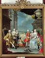 Franz Stephan I 1708-65 with his wife Marie-Therese 1717-80 and their children - Martin II Mytens or Meytens