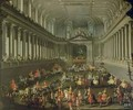 A Cavalcade in the Winter Riding School of the Vienna Hof to celebrate the defeat of the French army at Prague 1743 - Martin II Mytens or Meytens
