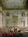 Court Banquet in the Great Antechamber of the Hofburg Palace Vienna 2 - Martin II Mytens or Meytens