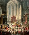 The Coronation of Joseph II 1741-90 as Emperor of Germany in Frankfurt Cathedral 1764 2 - Martin II Mytens or Meytens
