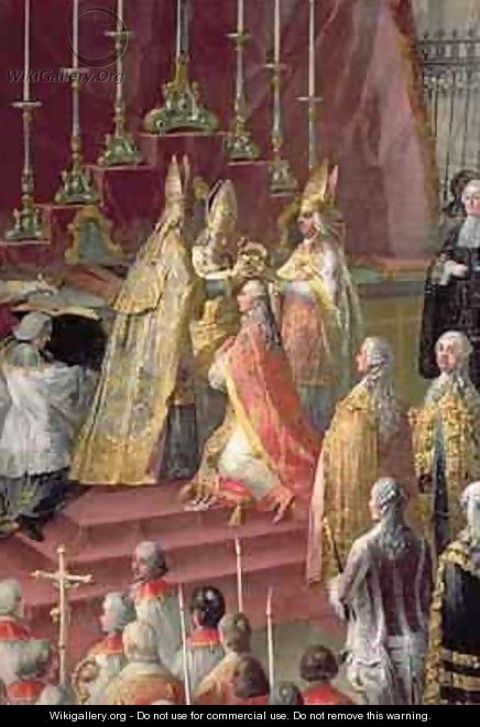 The Coronation of Joseph II 1741-90 as Emperor of Germany in Frankfurt Cathedral 1764 - Martin II Mytens or Meytens
