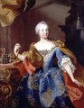 Portrait of Empress Maria Theresa of Austria - Martin II Mytens or Meytens