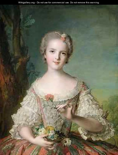 Portrait of Madame Louise de France 1737-87 at Fontevrault 1748 - Jean-Marc Nattier