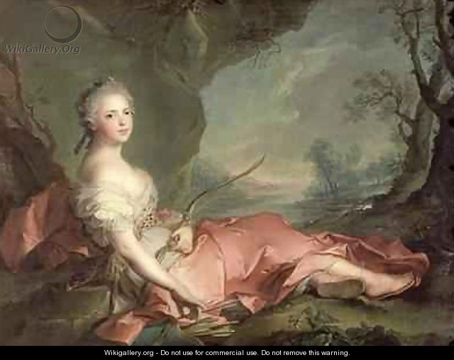 Portrait of Maria Adelaide of France - Jean-Marc Nattier