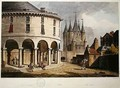 View of the Donjon and La Rotonde at the Temple Paris 1808 - John Claude Nattes