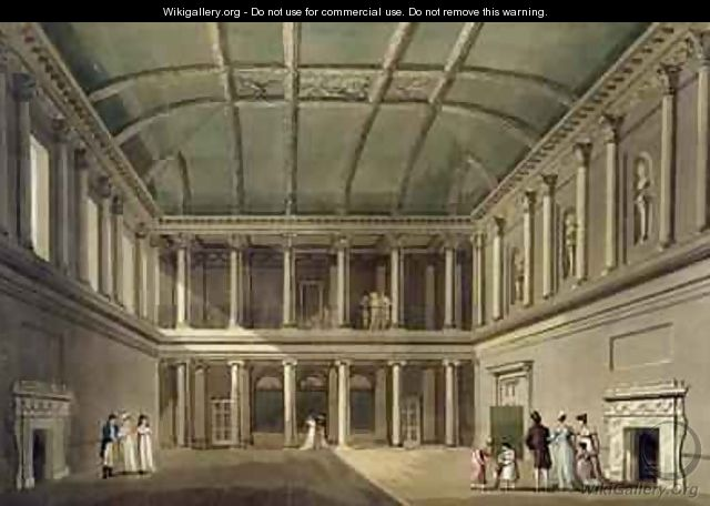 Interior of Concert Room from Bath Illustrated by a Series of Views - John Claude Nattes