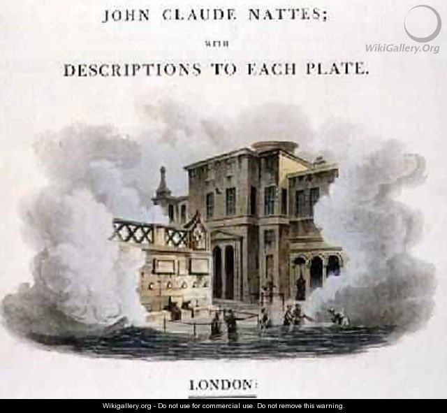 Taking the Waters at Bath frontispiece to Bath Illustrated by a Series of Views - John Claude Nattes