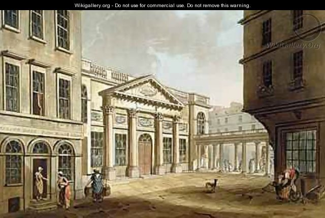 The Pump Room from Bath Illustrated by a Series of Views - John Claude Nattes