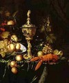 Still Life with a Steeple Cup a Lobster and Fruit 1677 - Pieter Nason