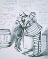William MBoss Tweed hugging the figure of Samuel J Tilden from Harpers Weekly 1871 - Thomas Nast