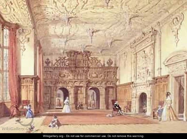 Crewe Hall Cheshire - Joseph Nash