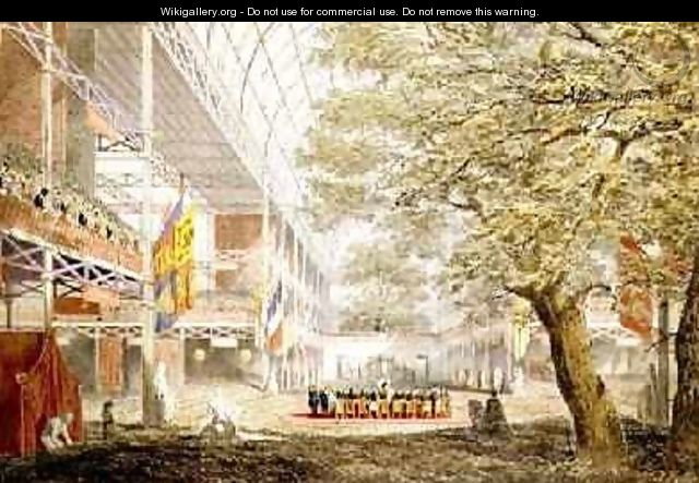 Great Exhibition the closing ceremony 1851 by Joseph Nash 1809-78 - Joseph Nash