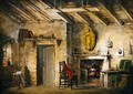 The Deans Cottage stage design for The Heart of Midlothian - Alexander Nasmyth