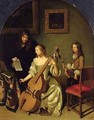 The Bassviol Player 1665 - Caspar Netscher
