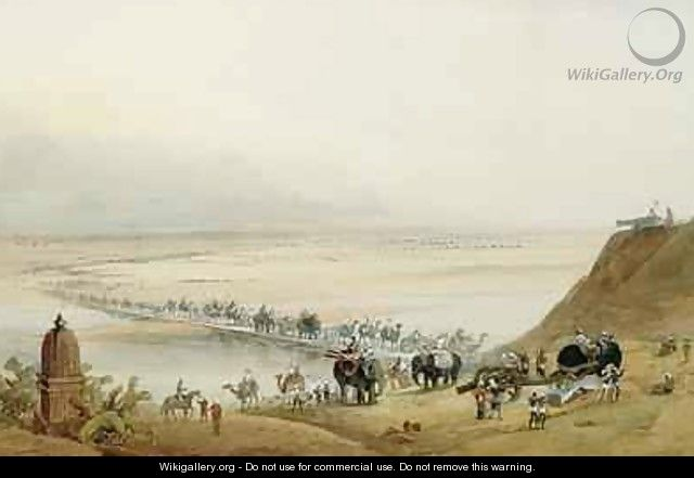 Released Garrison of Lucknow Crossing the Ganges - J. Needham