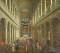 Interior of the Jesuit Church Antwerp - Pieter the Younger Neefs